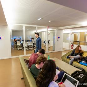 Salles collaboratives du Learning Center, centre Assas