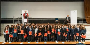 M. Guillaume Leyte, Président de l'université - les lauréats de l'université et lauréats concours de l'université 2018
