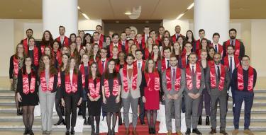 Soirée des majors 2018 - photo de groupe des majors
