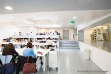 Bibliothèque de l'université paris 2 Panthéon-Assas, salle de lecture