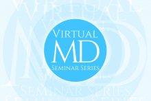 Illustration avec le logo Virtual MD seminar series