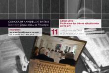 Visuel du prix de thèses Varenne 2018
