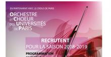 OCUP - auditions de recrutement 2018-2019