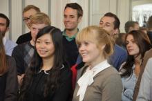 2010 Accueil des étudiants étrangers à l'appartement décanal