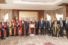 Remise des insignes de doctorat honoris causa au Ministre de la Tolérance des Emirats Arabes Unis