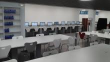 Bibliothèque de Melun, salle de lecture, université de Paris II - Panthéon-Assas