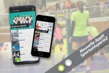 Visuel de la nouvelle appli Sportunivparis2 présentée sur deux smartphones