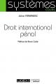 Couverture de l'ouvrage Droit international pénal
