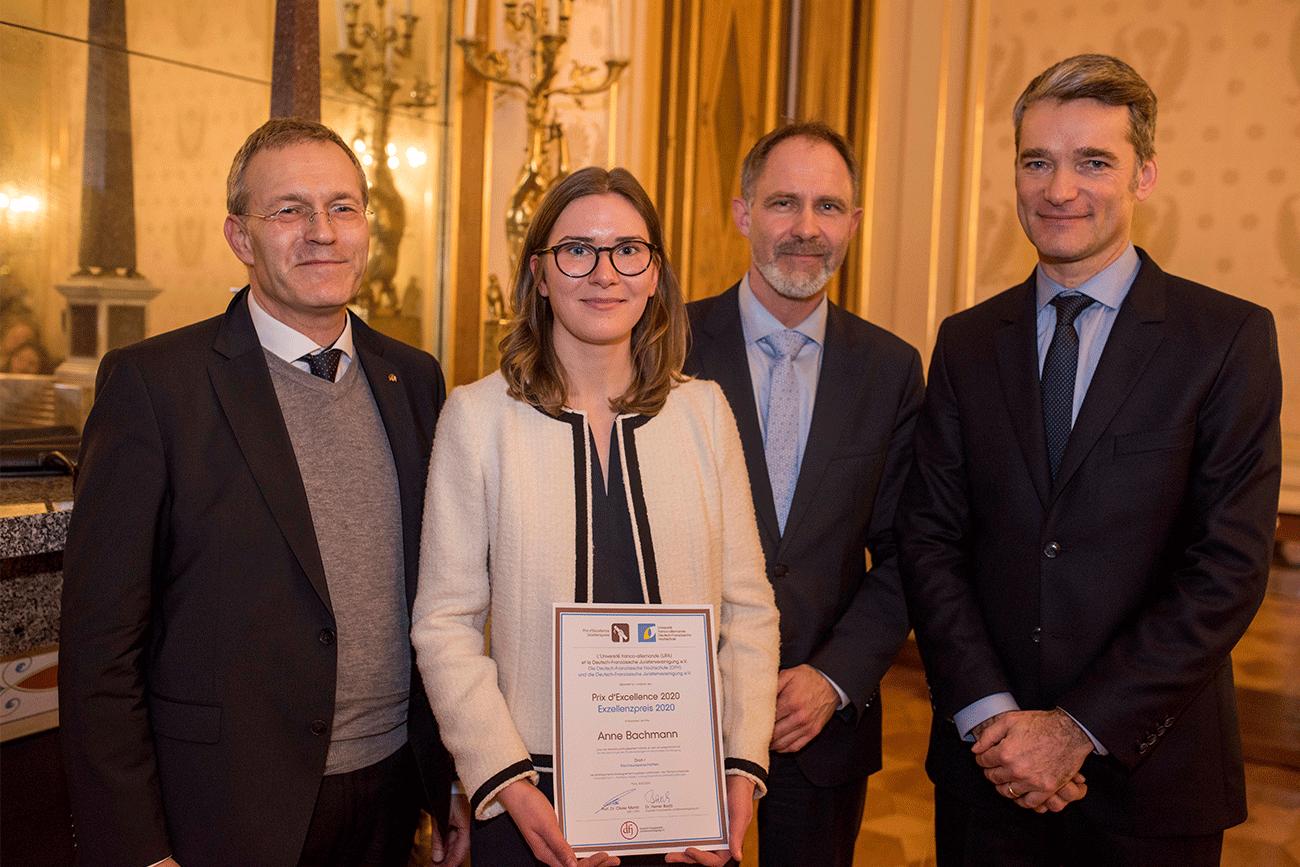 Anne Bachmann, lauréate du prix d'excellence de l'université franco-allemande 2020
