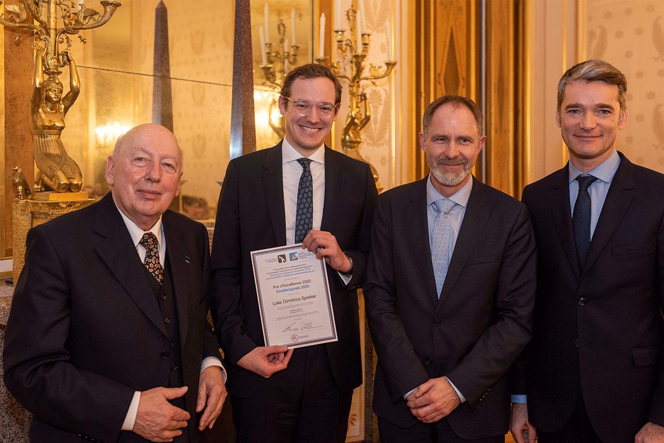 Luke Dimitrios Spieker, lauréat du prix d'excellence de l'université franco-allemande 2020