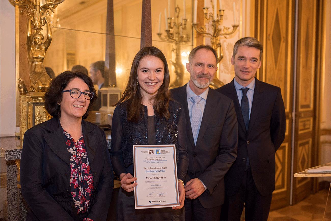 Aline Brießmann, lauréate du prix d'excellence de l'université franco-allemande 2020